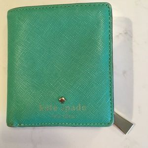 Kate Spade Turquoise wallet- used